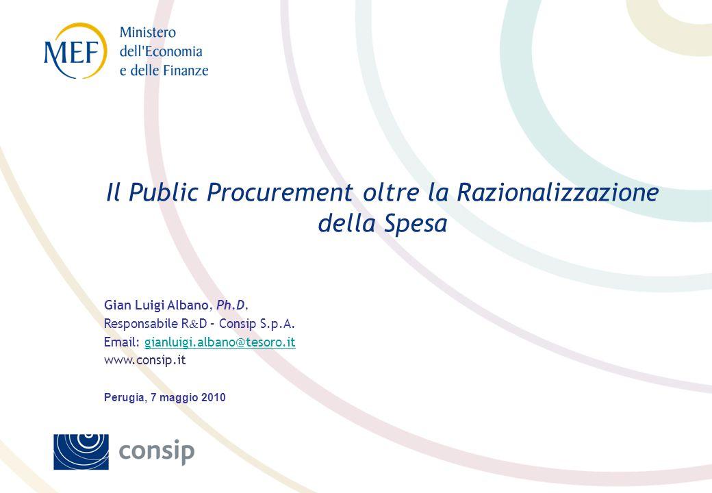 Tappe principali Consip e Il mito (di Sisifo) della centralizzazione degli acquisti di beni e servizi in Italia.