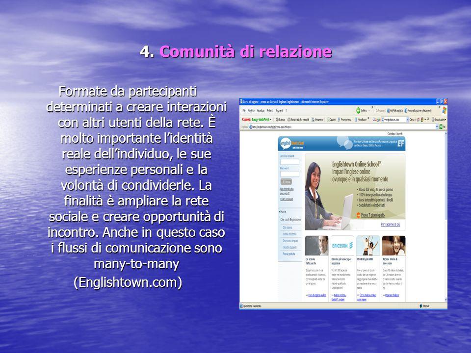 4. Comunità di relazione