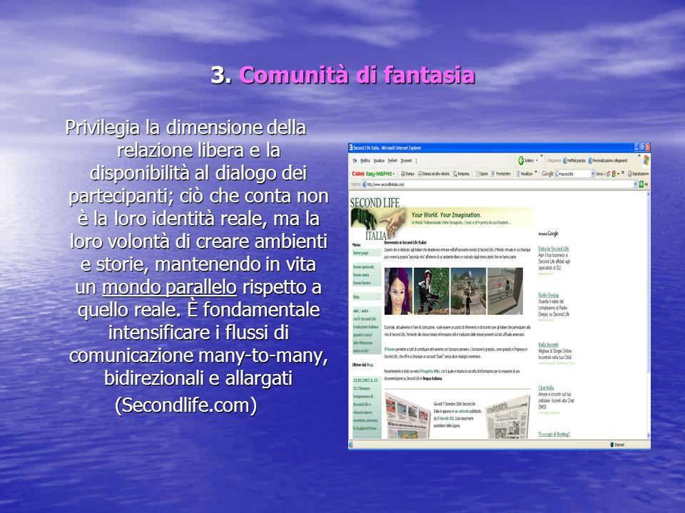 3. Comunità di fantasia