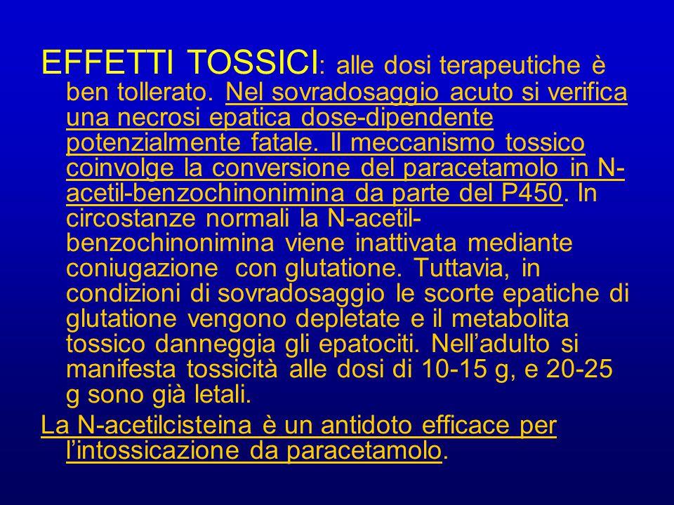 EFFETTI TOSSICI: alle dosi terapeutiche è ben tollerato
