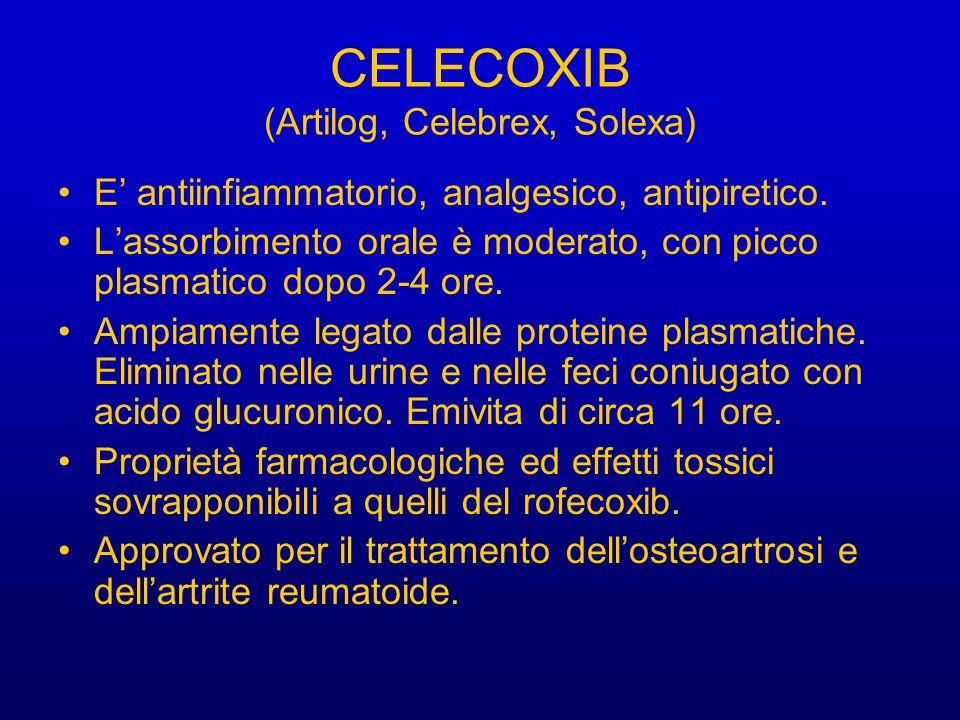 CELECOXIB (Artilog, Celebrex, Solexa)
