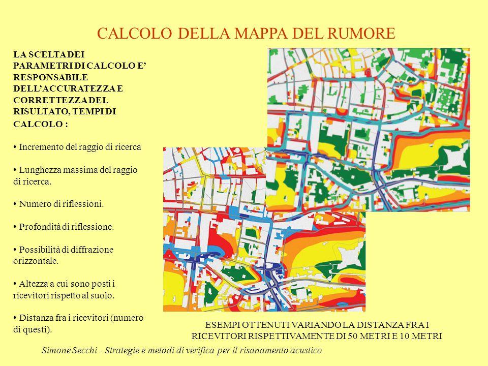 CALCOLO DELLA MAPPA DEL RUMORE