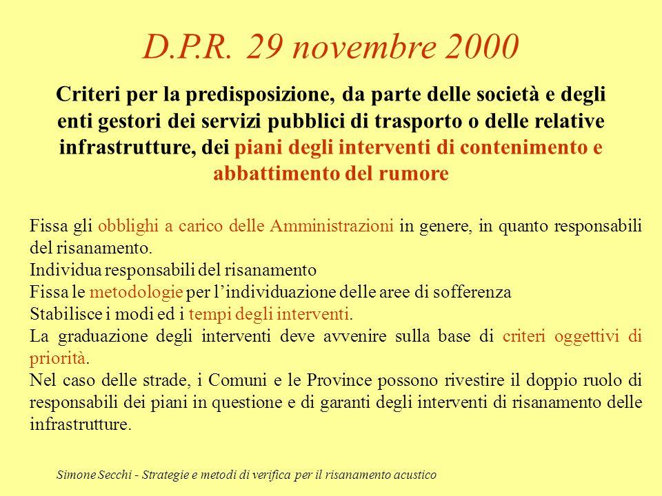 D.P.R. 29 novembre 2000
