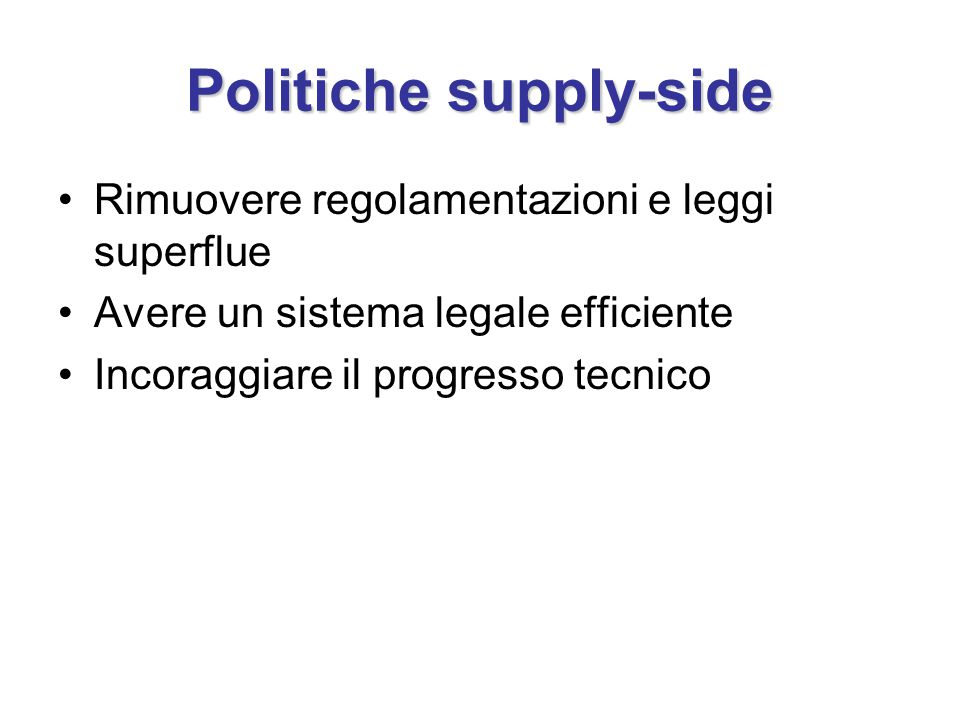 Politiche supply-side