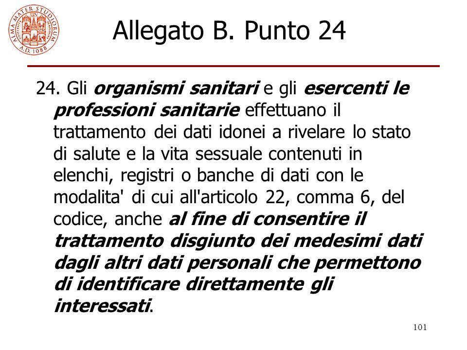Allegato B. Punto 24