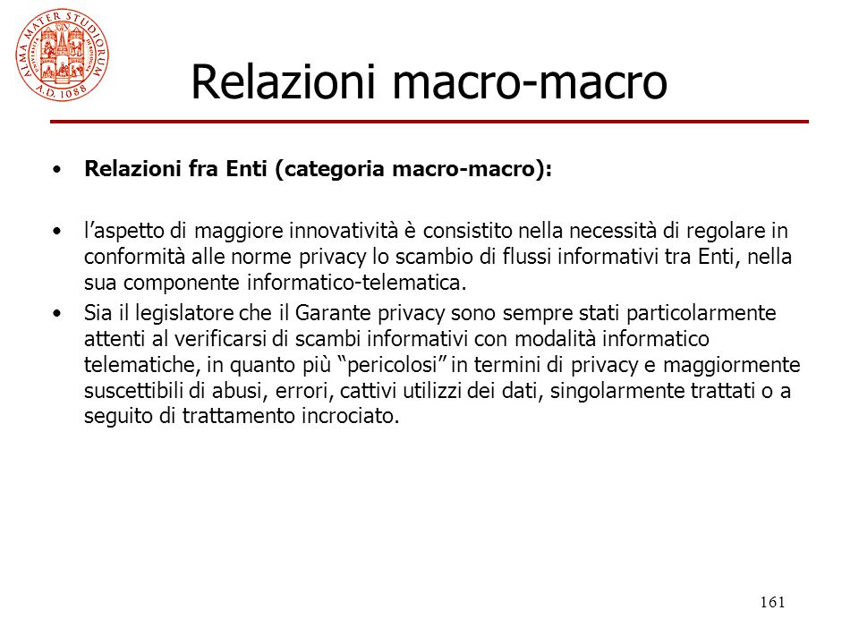 Relazioni macro-macro