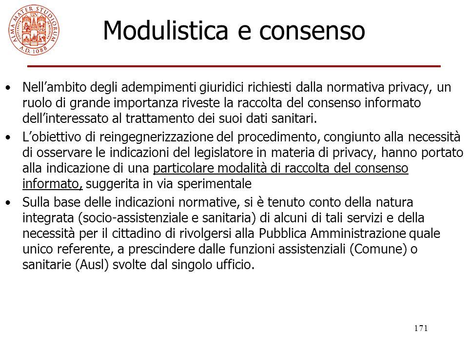 Modulistica e consenso