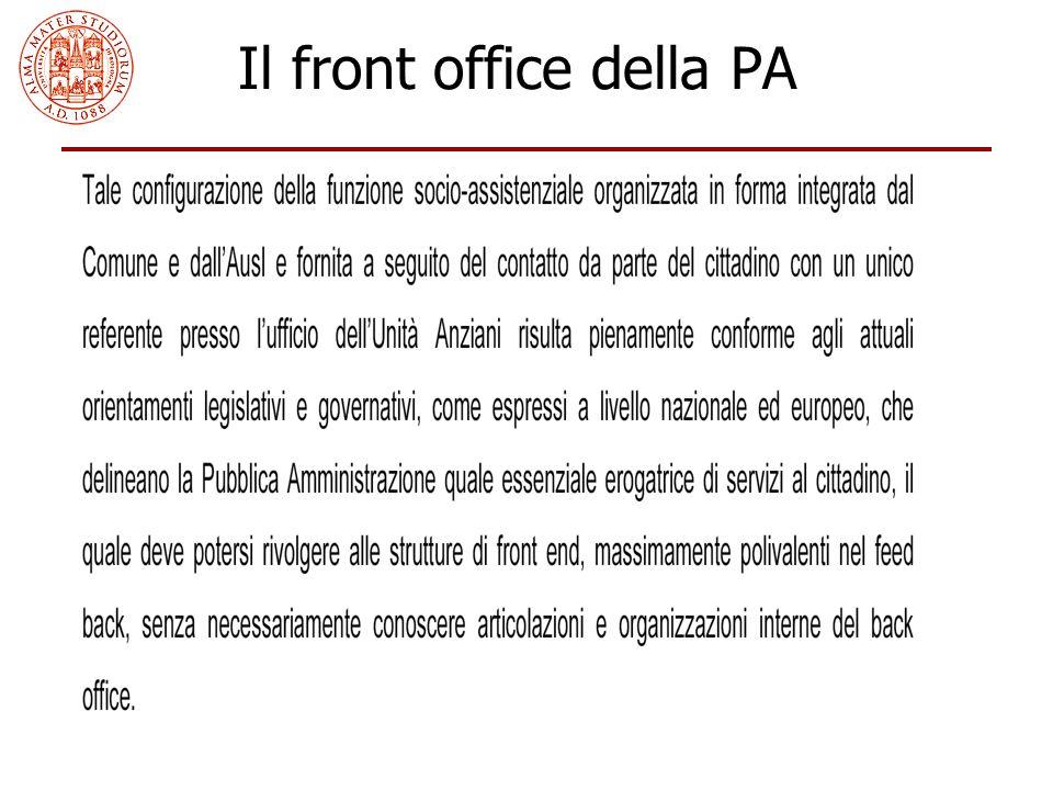 Il front office della PA