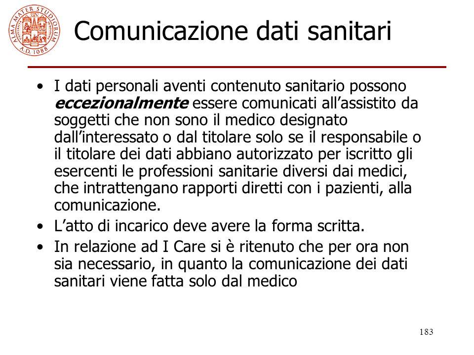 Comunicazione dati sanitari