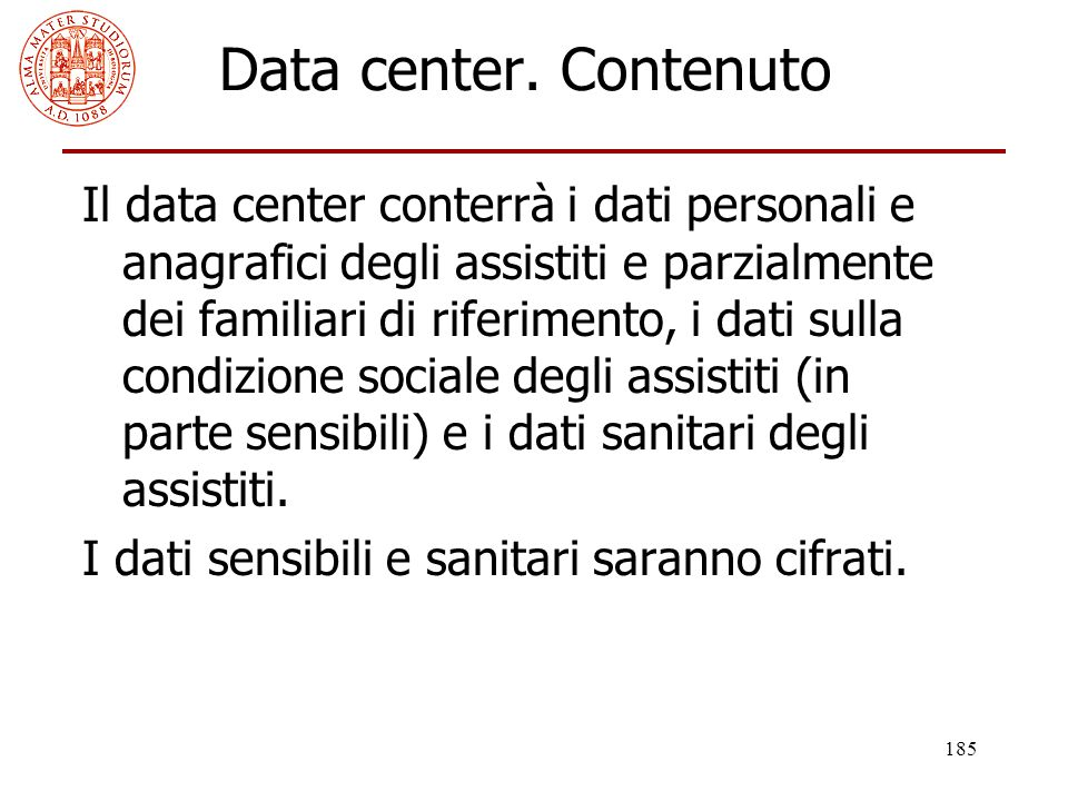 Data center. Contenuto