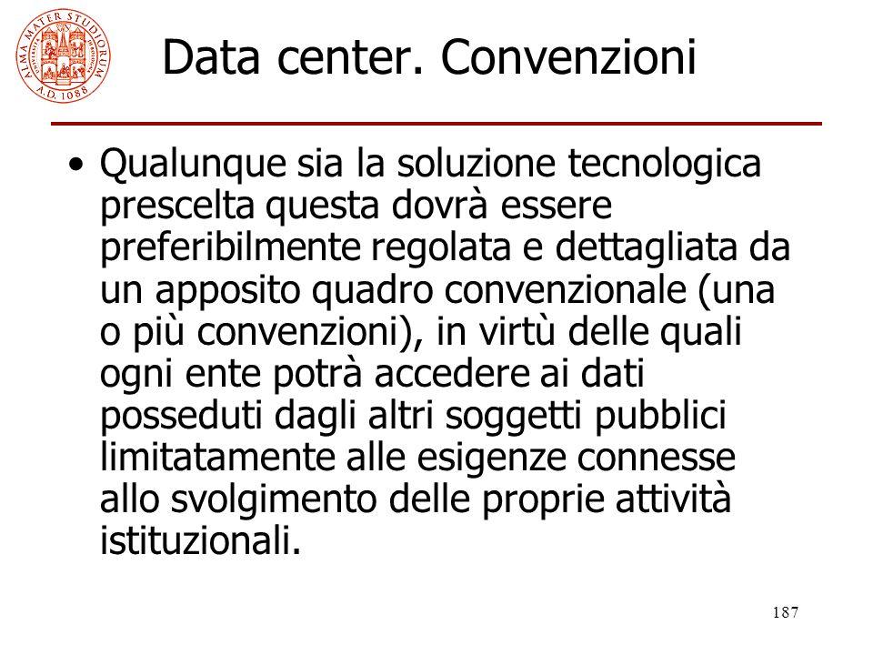 Data center. Convenzioni
