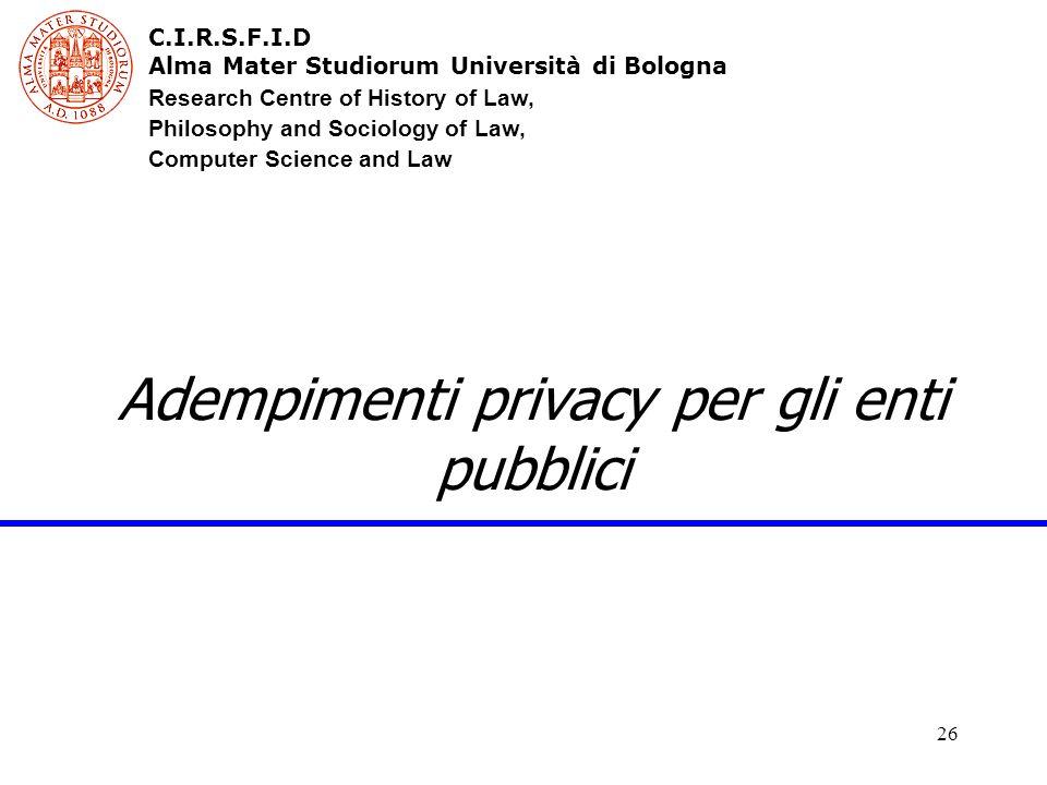 Adempimenti privacy per gli enti pubblici
