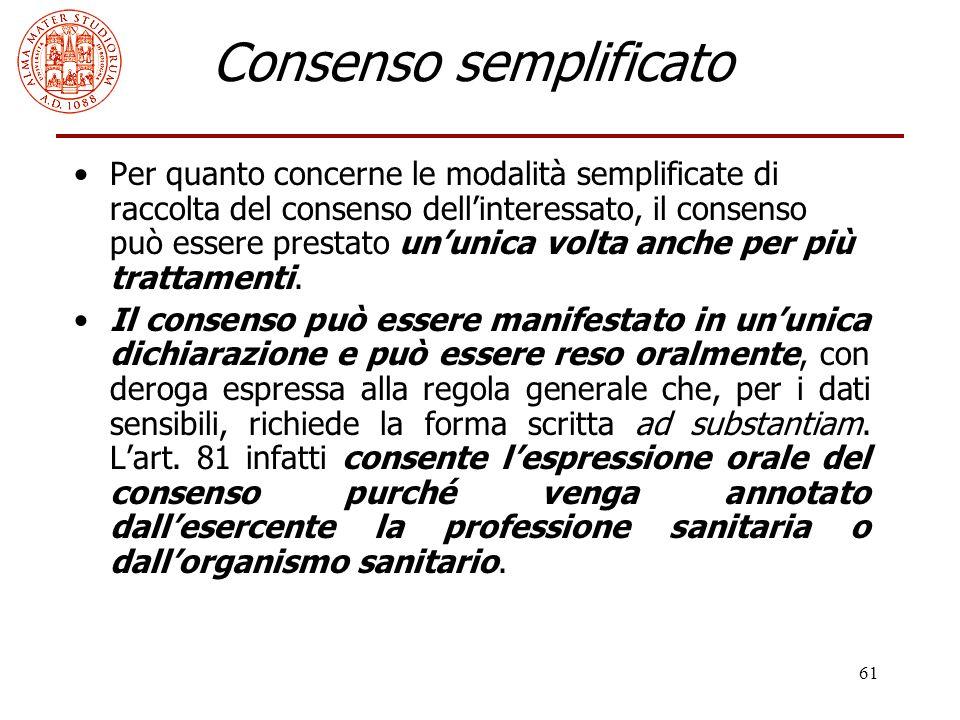 Consenso semplificato