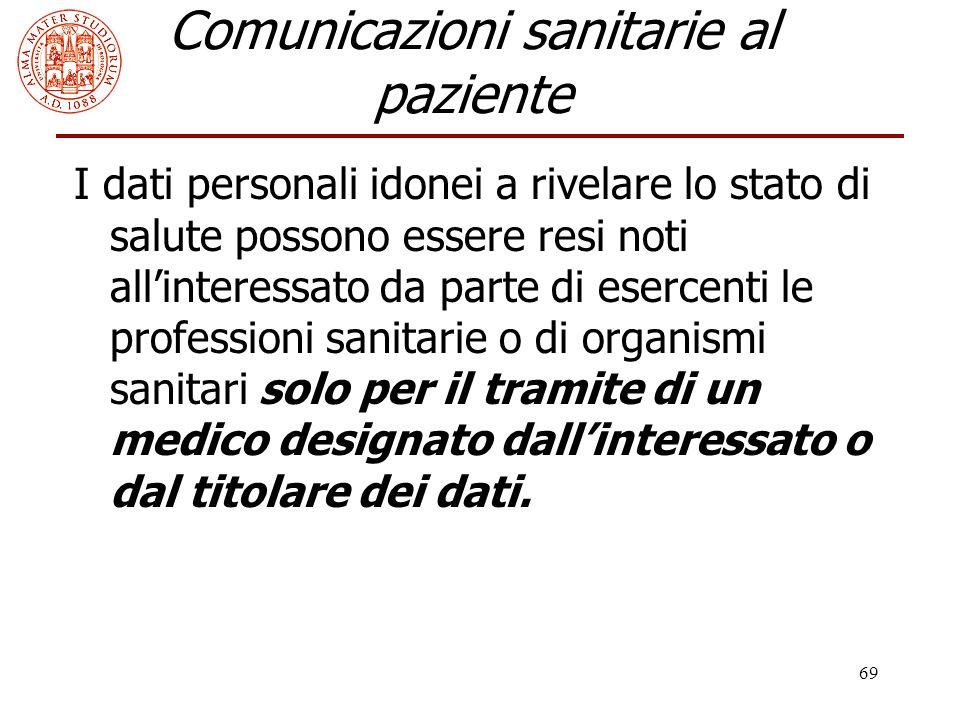 Comunicazioni sanitarie al paziente