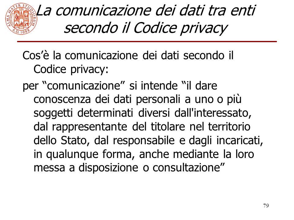La comunicazione dei dati tra enti secondo il Codice privacy