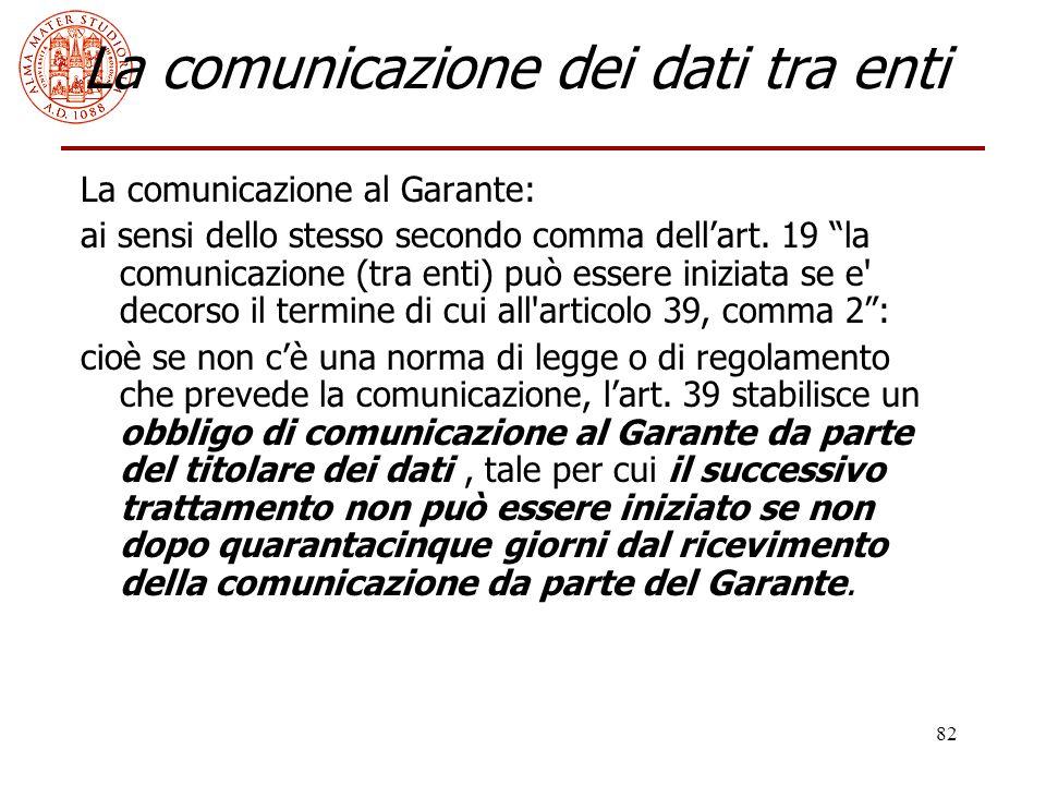 La comunicazione dei dati tra enti