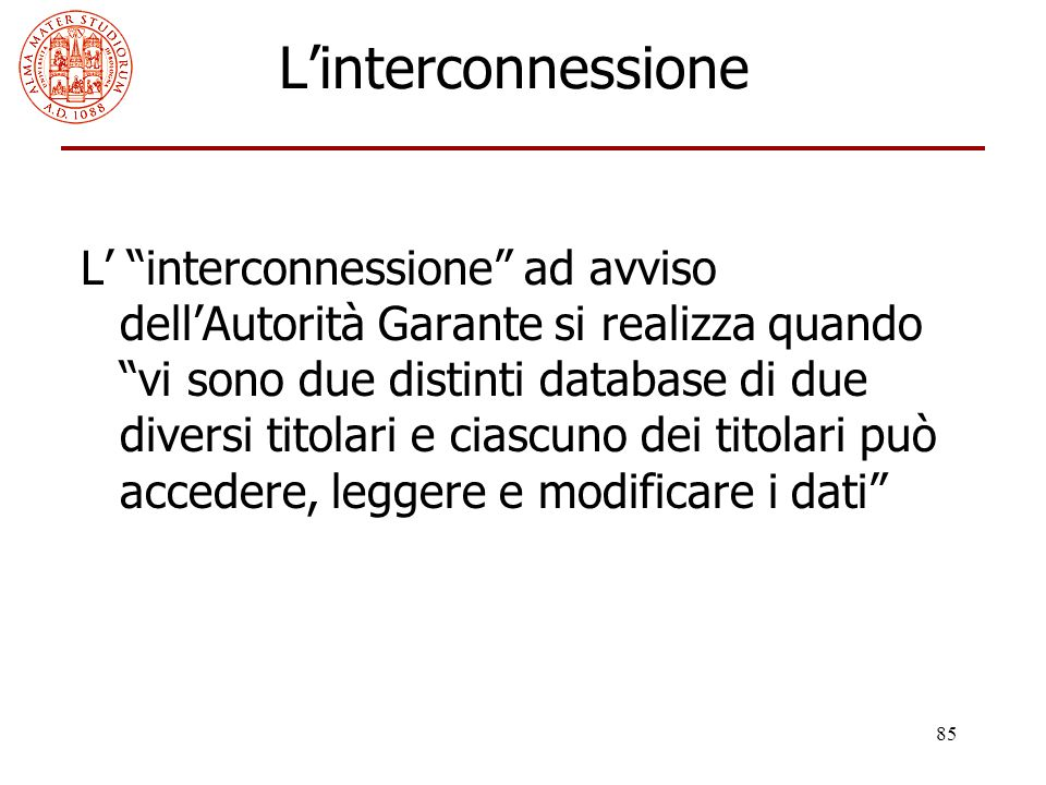 L'interconnessione