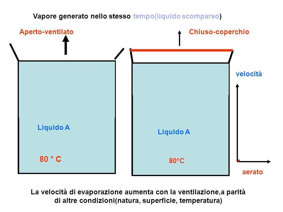 80 ° C Vapore generato nello stesso tempo(liquido scomparso)
