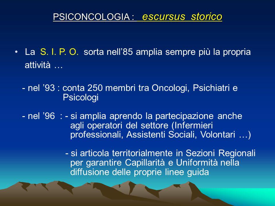 PSICONCOLOGIA : escursus storico