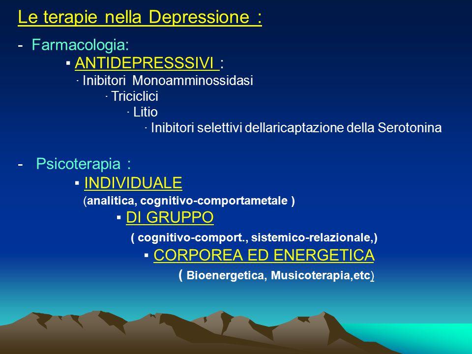 Le terapie nella Depressione :