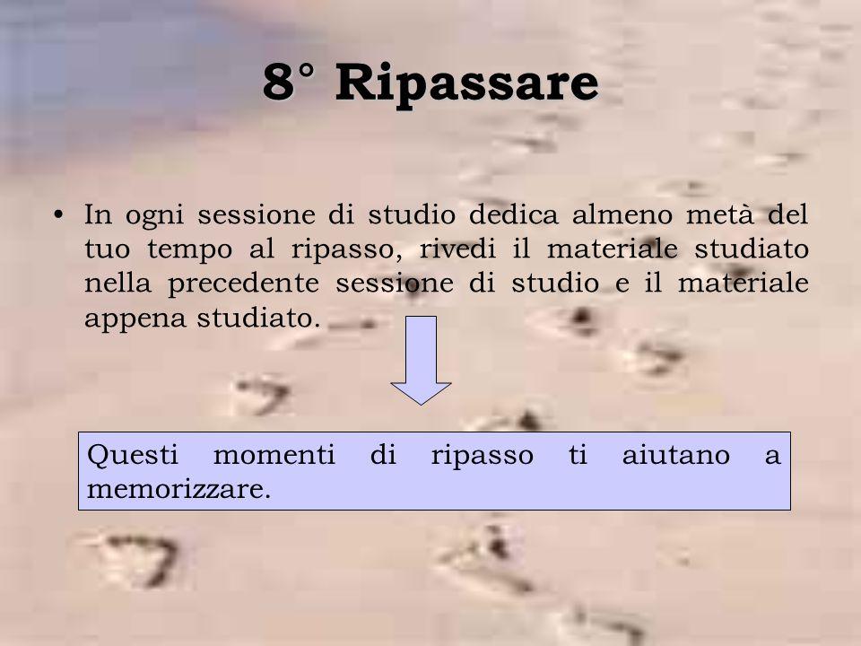 8° Ripassare