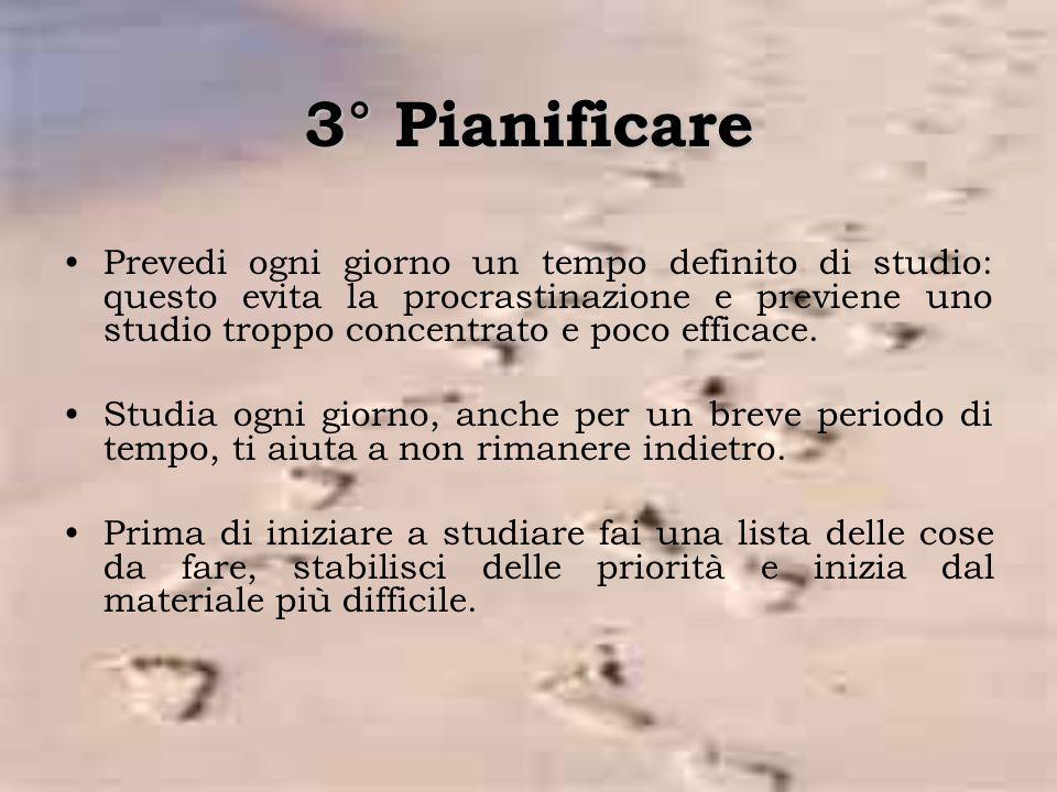 3° Pianificare