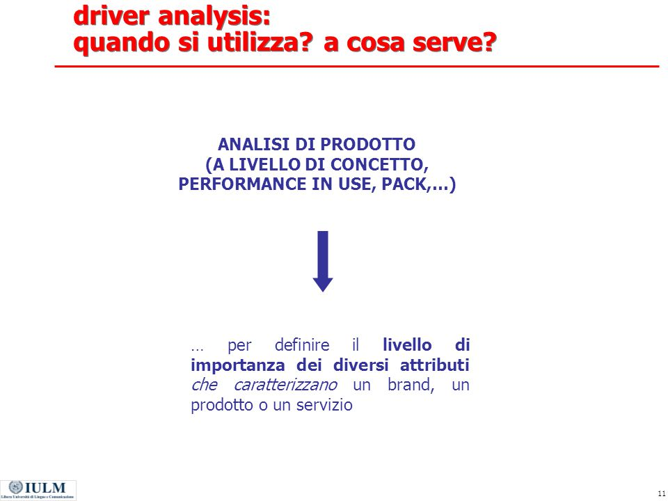 driver analysis: quando si utilizza a cosa serve