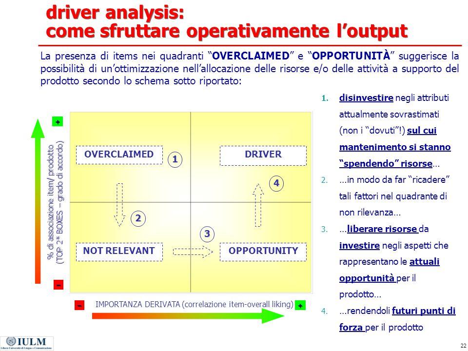 driver analysis: come sfruttare operativamente l'output