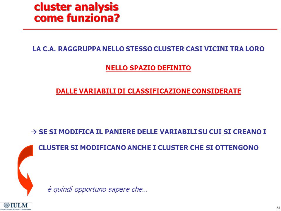 cluster analysis come funziona