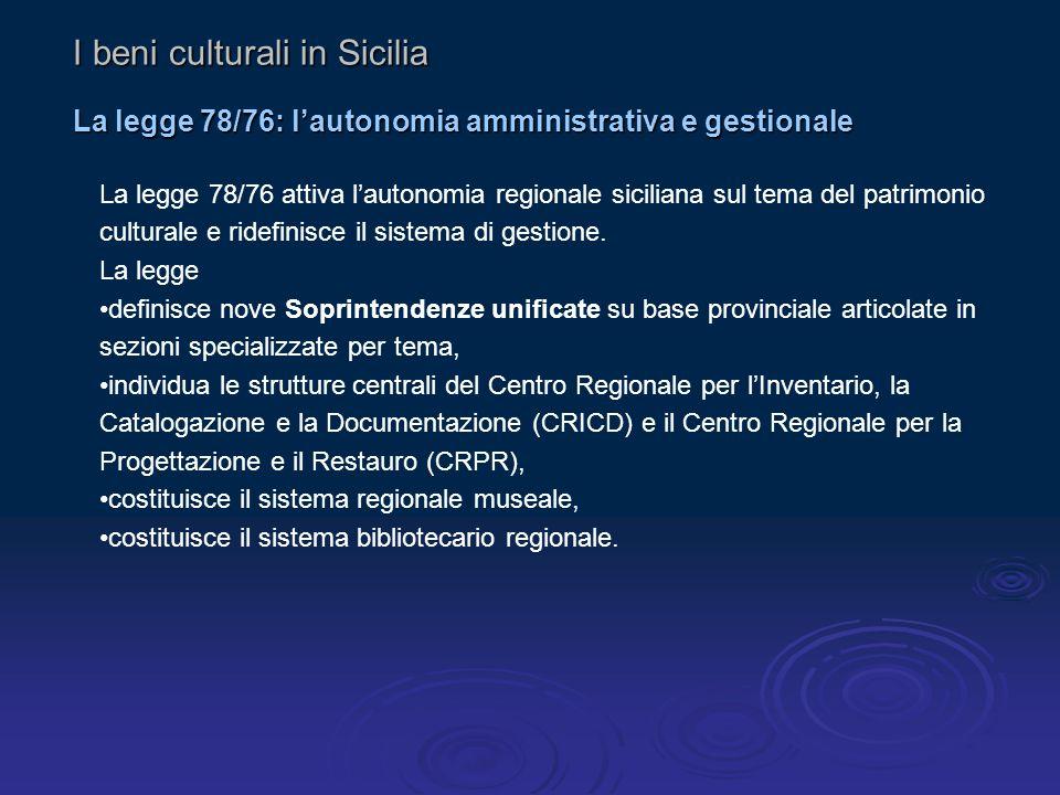 I beni culturali in Sicilia
