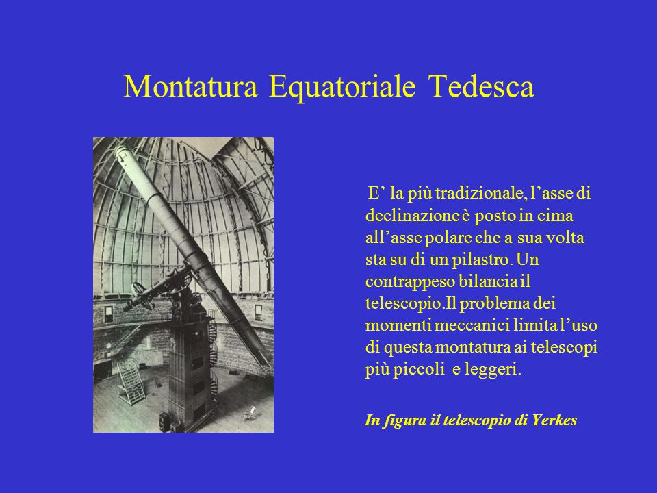 Montatura Equatoriale Tedesca