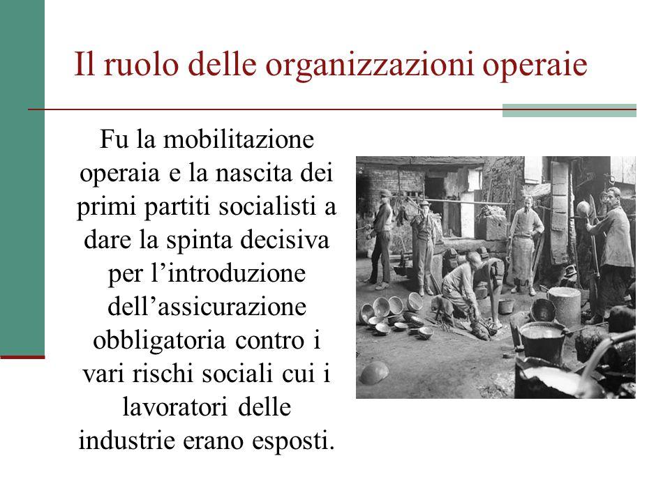 Il ruolo delle organizzazioni operaie