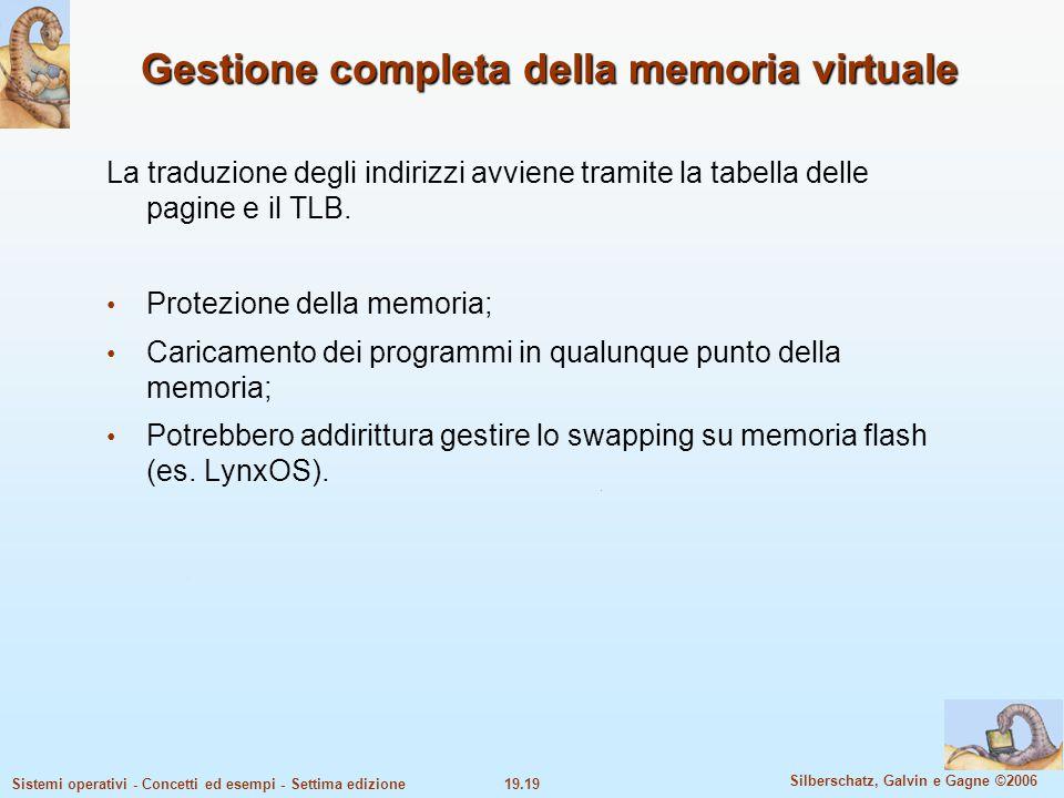 Gestione completa della memoria virtuale