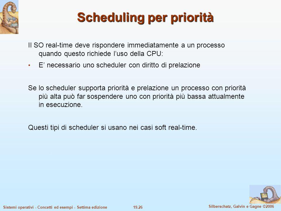Scheduling per priorità