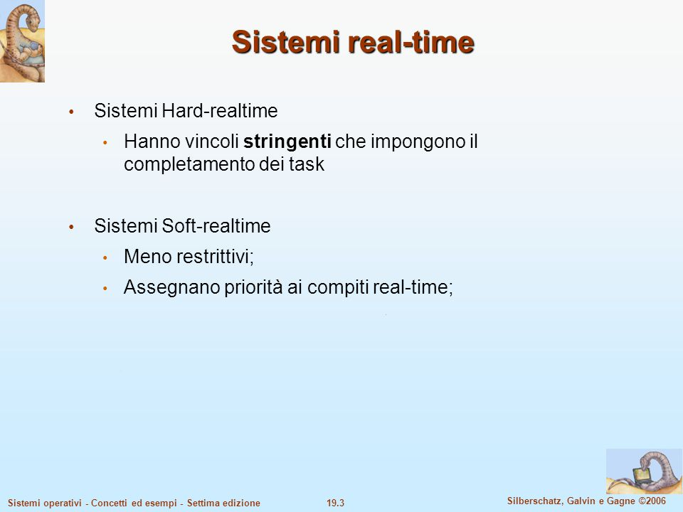 Sistemi real-time Sistemi Hard-realtime