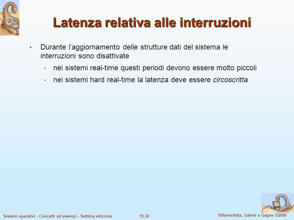 Latenza relativa alle interruzioni