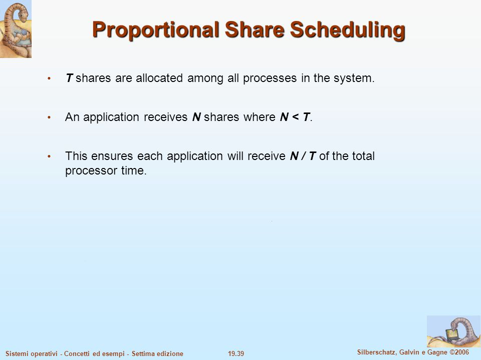 Proportional Share Scheduling