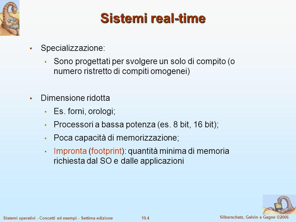 Sistemi real-time Specializzazione: