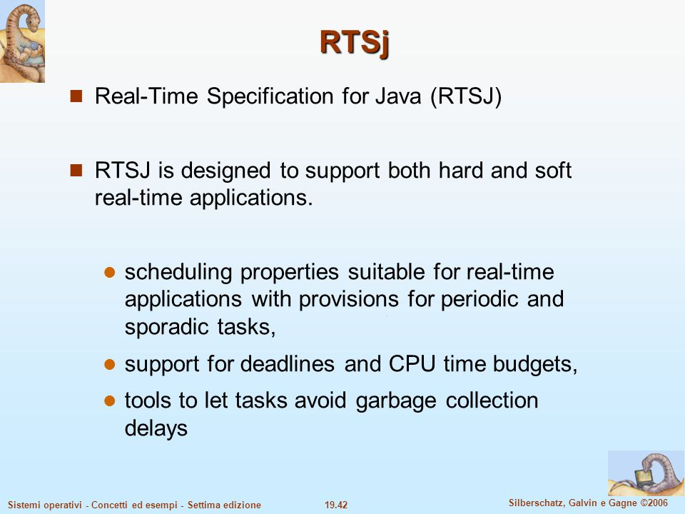 RTSj Real-Time Specification for Java (RTSJ)