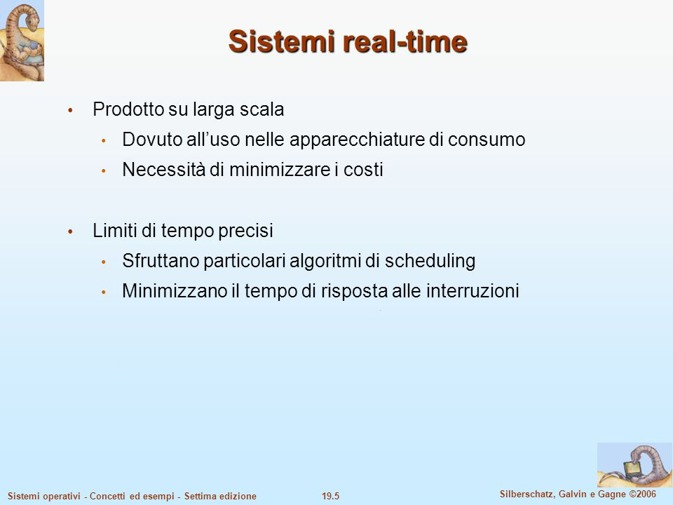 Sistemi real-time Prodotto su larga scala