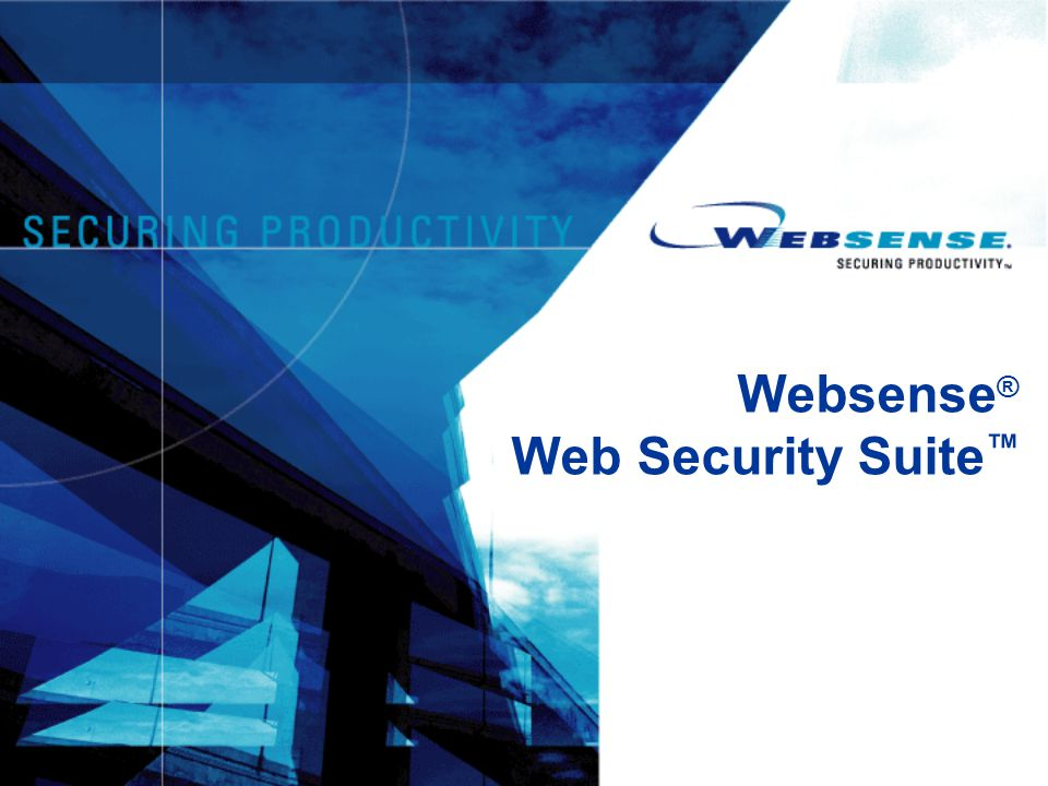 Websense® Web Security Suite™