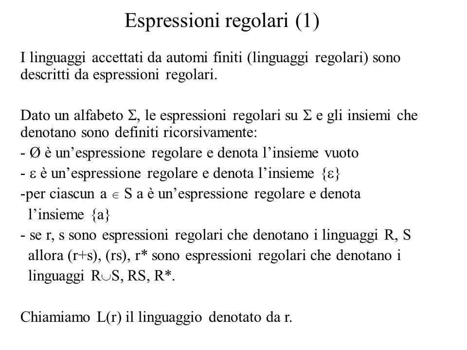 Espressioni regolari (1)
