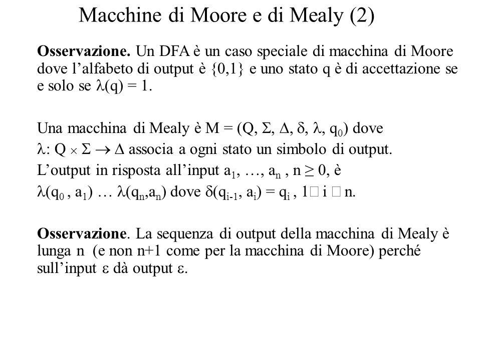 Macchine di Moore e di Mealy (2)