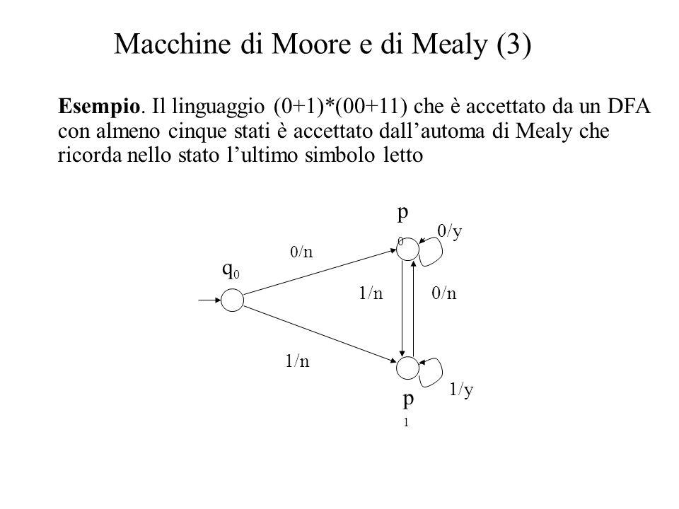Macchine di Moore e di Mealy (3)