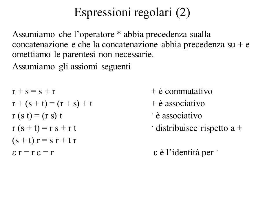 Espressioni regolari (2)
