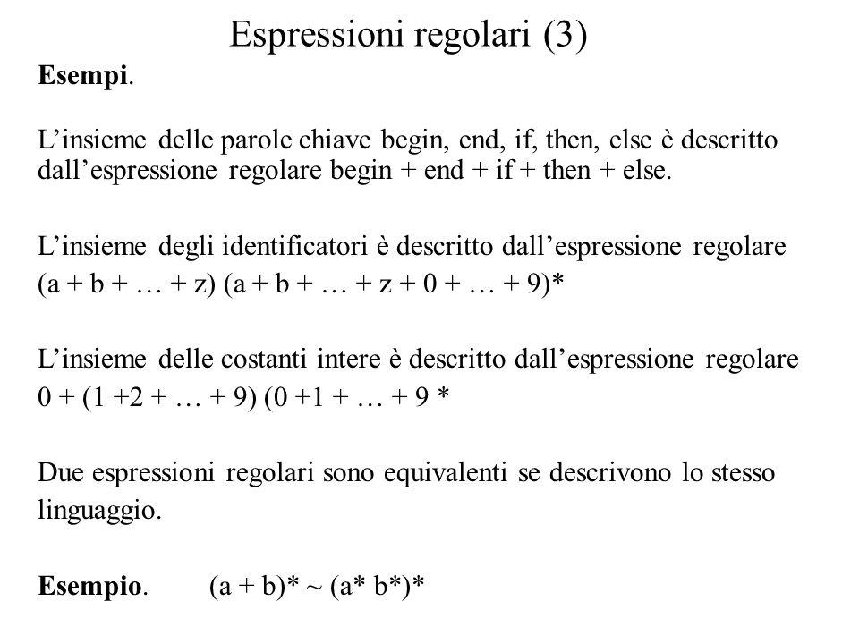Espressioni regolari (3)