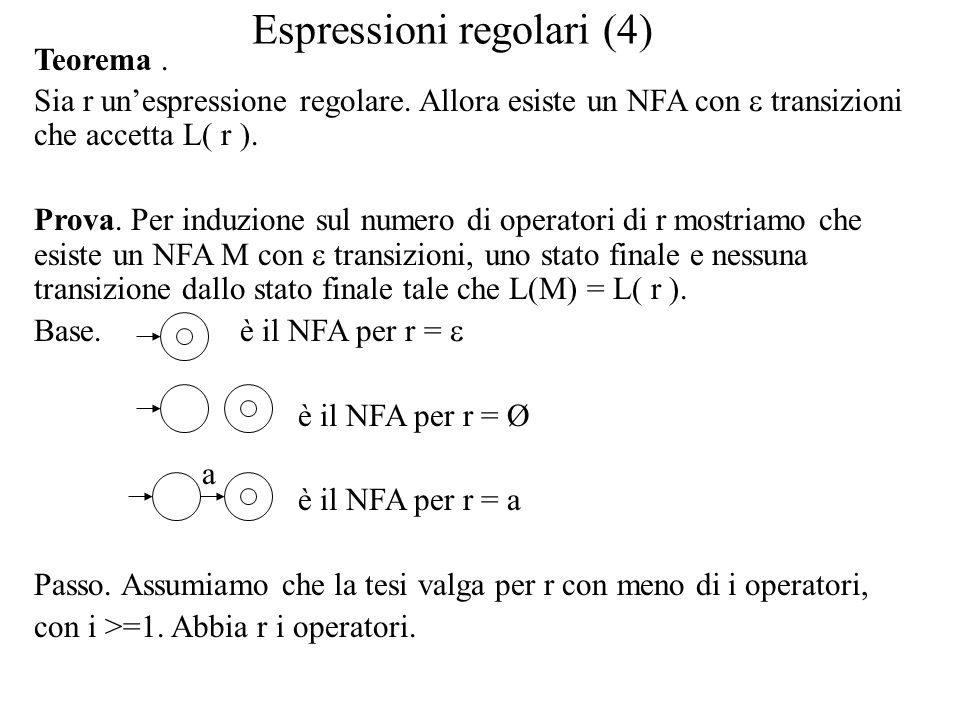 Espressioni regolari (4)