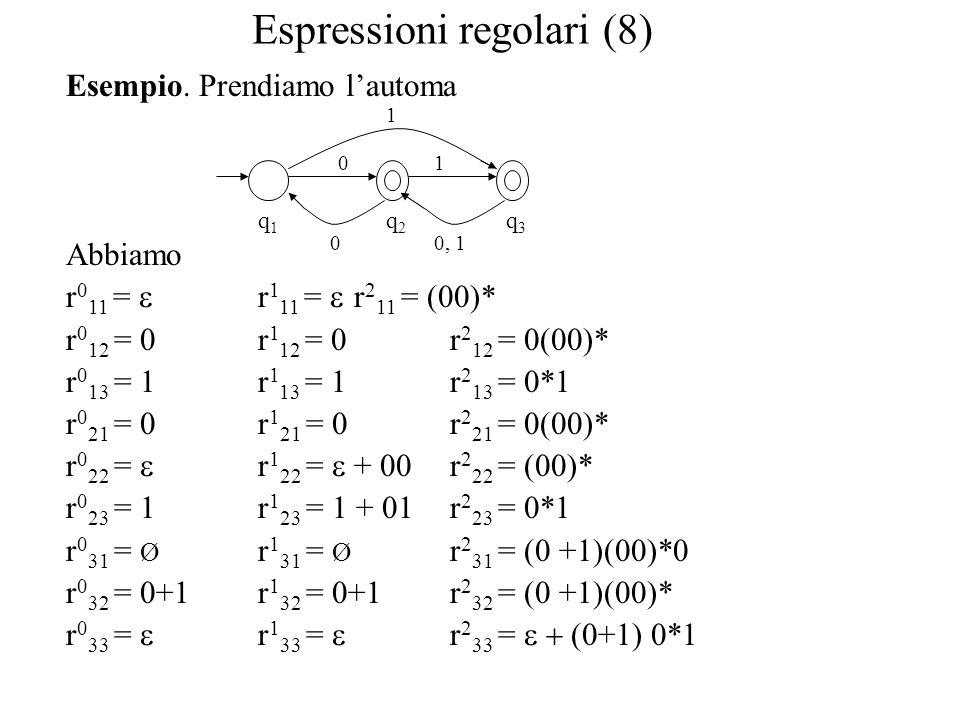 Espressioni regolari (8)