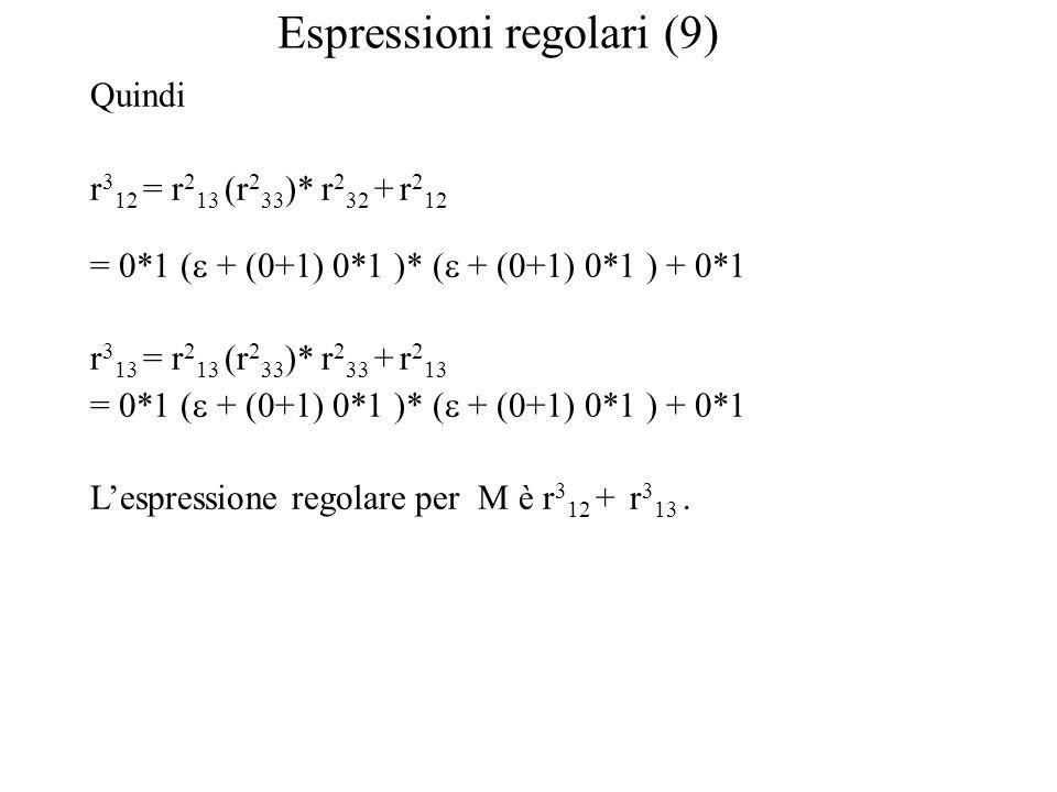 Espressioni regolari (9)