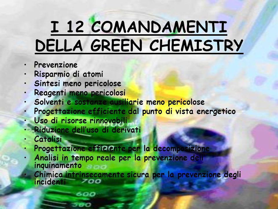 I 12 COMANDAMENTI DELLA GREEN CHEMISTRY